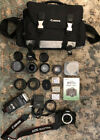 BUNDLE Canon EOS Rebel T2i 550D Lenses Batteries Manual Flash