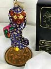 CHIRSTOPHER RADKO RARE MYSTIC BEARER WIZARD BEAR W/ PRESENT CHRISTMAS ORNAMENT