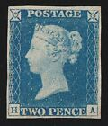 GREAT BRITAIN 1840 QV 2d pale blue Plate 1 PHOTO CERTIFICATE SG cat 48000