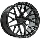 4ea 20x105 Rohana Wheels RFX10 Gloss Black RimsS11