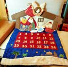 Vintage Felt Advent Christmas Calendar Nativity Design Peace Angel Wise Men