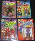 LOT OF 9 X MEN TOY BIZ 1990S ACTION FIGURES ALL MINT ON CARDS SAURON WOLVERINE