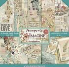 Stamperia Double Sided Paper Pad 8x8 Imagine Love Art  Vintage Designs