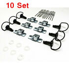 10x Motorcycle Quick Release D-RING Race Fairing Fasteners B Type  17mm 1/4 Turn