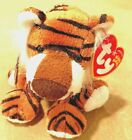 TY Beanie Babies Tiger Named Stripey with Tags Born 1-8-2005