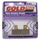 Goldfren S33 Brake Pads Rear For Scorpa SY125 FR 4T Large friction 2003-2011