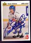 🔥 TEEMU SELANNE SIGNED 1991-92 UPPER DECK FRENCH AUTOGRAPH AUTO ROOKIE CARD RC
