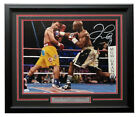 Floyd Mayweather Jr Signed Framed 16x20 Manny Pacquiao Fight Photo JSA