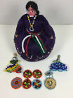 Native American Pin Cushion Doll + Native Beadwork Pieces Bulk Lot
