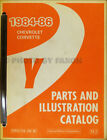 1986 Corvette Master Parts Book Original OEM Chevrolet Illustrated Part Catalog