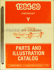 1990 Corvette Parts Book Illustrated Chevrolet Master Part Catalog Original OEM