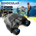10x25 HD Waterproof Binoculars Folding High Powered With Night Vision Telescope
