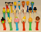PEZ - LOT of 20 - Mickey Jack in the Box Bunny Fozzy Bear Donald Duck Turtle etc