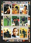 Myanmar 2000 Local issue Mao  China Bruce Lee  Tiger Woods sheet of 9