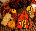 Retro Haunted House Halloween Witch Cutout