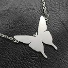 New Butterfly Silver 316L Stainless Steel Titanium Pendant Necklace R50