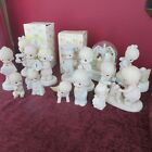 Lot 13PRECIOUS MOMENTS Figurines LIFE MomentsChildrenMarriageAnniversaryHome