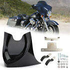 Chin Fairing Mudguard Spoiler For Touring Dyna Softail Road King 04-17 GBlack