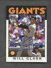 2012 Topps Archives Fan Favorites Will Clark Signed AUTO