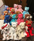 TY BEANIE BABIES LOT OF 16 DIFFERENT BEARS- GIFT,BEARON,HERALD,SHERBET,DECADE