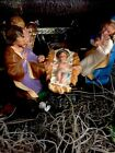 VTG NATIVITY MANGER With 11 Original Figures Made In ITALY