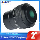 F15mm 2 Telescope Eyepiece Ultra Wide Angle 80Fully Multi Coated+Track brand
