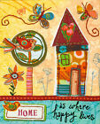Dimensions Handmade Embroidery Kit ~ Home is Happy Colorful House #72-73771