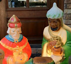 Vintage General Foam Blow Mold Christmas Nativity Wisemen LightUp Decor Yard Art