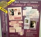 Busy Scrapper Wedding Romance 12x12 Papers Alphabet Tiles Tags Art 36 Pgs HOTP