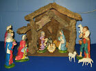 VINTAGE 12 PIECE LIGHTED ITALIAN NATIVITY SET  B 63 LOCAL PICKUP AVAILABLE