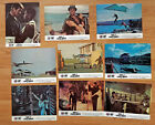 James Bond 007 LIVE AND LET DIE - 9 rare French lobby cards 1973 ROGER MOORE