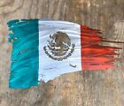 Metal Tattered Mexican Flag Plasma Cut Sign Art 24 Wide