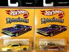 Hot Wheels Lowriders 65 Impala yellow  74 Monte Carlo gold Set Of 2