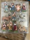 Nativity Scene Mini Christmas Tree Ornaments Decor Figure Set Jesus RARE 1 Inch