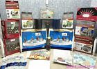 2 LEMAX VILLAGE ACCESSORIES W/ LIGHTS, CHRISTMAS CARDS, LIGHT CLIPS, RIBBON ETC