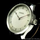 Stainless Steel Noble Design Mens Wrist Watch with Vintage Movement by JUNGHANS