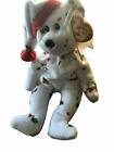 TY Beanie Babies Baby 1998 Holiday Teddy 008421042043 White Holly Christmas Gift