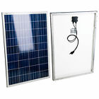 Poly 12V 100W Solar Panel RV Boat Car Battery Solar Charger 40 x 27 x 1 3 8