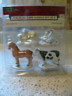 Lemax Village Collection Porcelain Farm Animals Set of 4