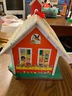 1971 Vintage Fisher Price Little People School House with Bell and Clock