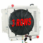 3 Row Radiator +Shroud Fan+Relay For 1987 2006 Jeep Wrangler TJ YJ Chevy V8 Pro