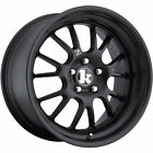 4 - 18x9.5 Black Wheel Klutch SL14 5x4.5 35