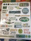 BASIC GREY RUB ON TRANSFERS LOVE JOURNEY HAPPINESS FAMILY FUN New in package