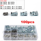 100x Clip U Nut M4 M5 M6 M8 Clips Fairing Panel Speed Fasteners Stainless Steel