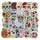 50Pcs Sugar Skull Stickers Colored Graffiti Decal for Laptop Luggage Skateboard