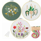 DIY Floral Pattern Embroidery Cross Crafts Stitch Kit Decor Arts For Beginners
