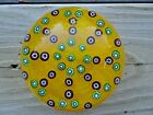 1978 Vintage John Gentile Glass 8 Spoke Millefiori Paperweight Red Yellow Green