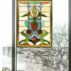 Stained Glass Window Panel Modern Contemporary Tiffany Style 18 Wide x 25 Tall