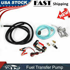 12V Electric Diesel Oil And Fuel Transfer Auto Extractor Pump with Nozzle  Hose