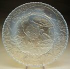 Vintage Fenton French Opalescent Garden of Eden Plate  Embossed Adam with Eve